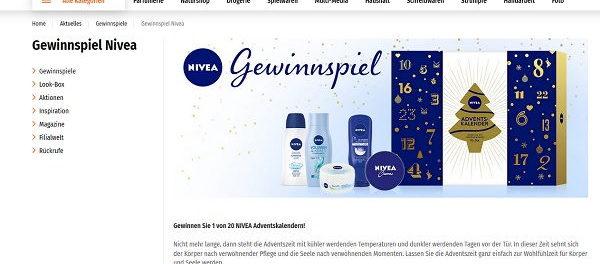 Müller und Nivea Adventskalender Gewinnspiel