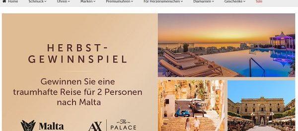 Malta Reise Gewinnspiel Christ Juweliere