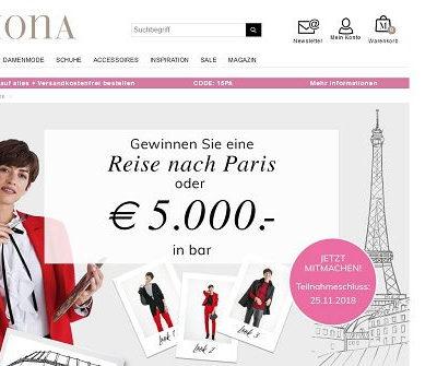 Mona Versand Gewinnspiel Paris Reise oder 5.000 Euro gewinnen