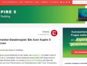 Notebook Gewinnspiel Chip.de Acer Aspire 5