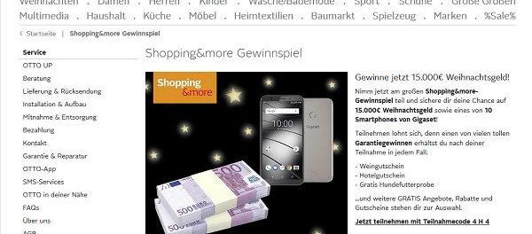 Otto Weihnachts-Gewinnspiel 15.000 Euro Weihnachtsgeld