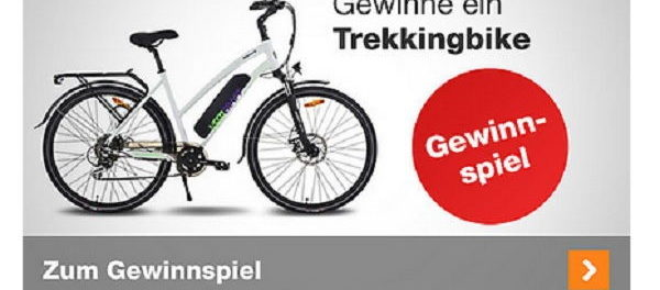 Plus.de Trekkingbike Gewinnspiel