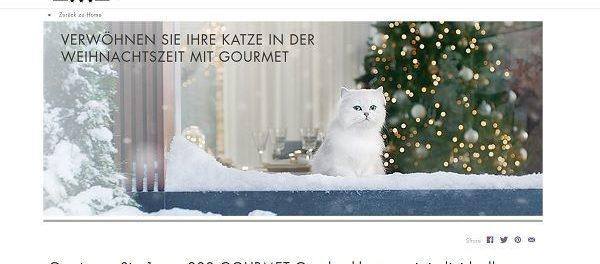 Purina Gourmet Weihnachts-Gewinnspiel 222 Katzenfutterpakete