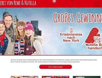 REWE Nutella Adventsbäckerei Gewinnspiel New York Reise