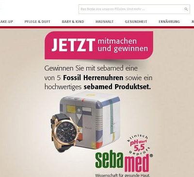 Rossmann Gewinnspiel sebamed verlost Fossil Herrenuhren
