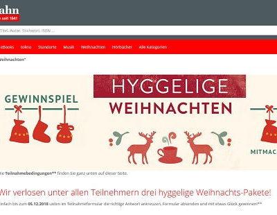 Schmitt&Hahn Weihnachts-Pakete Gewinnspiel