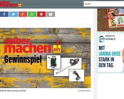 Selber Machen Gewinnspiel Bosch Werkzeuge gewinnen