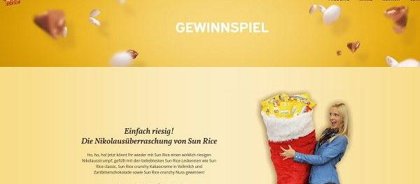 Sun Rice Gewinnspiel XXL Nikolausstrumpf