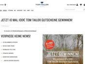 Tom Tailor Gewinnspiel 100 Euro Gutscheine