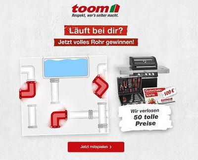 Toom Baumarkt Gewinnspiel Gasgrill Werkzeuge Gutscheine