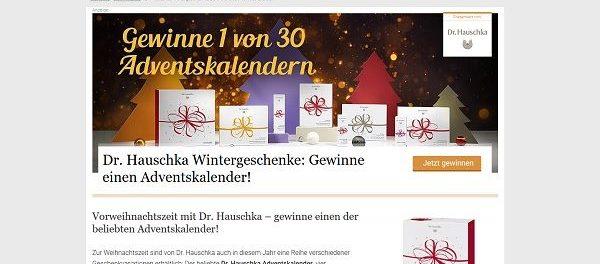 Utopia Gewinnspiel 30 Dr. Hauschka Adventskalender