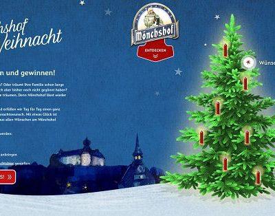 Weihnachtswunsch Gewinnspiel Mönchshof Brauerei