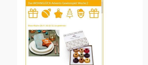 Wohnglück Advents-Gewinnspiel 2. Runde