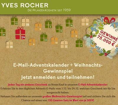 Yves Rocher Adventskalender Gewinnspiel 2018