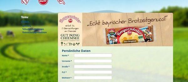 Zott Bayerntaler Reise Gewinnspiel Gut Ising Chiemsee