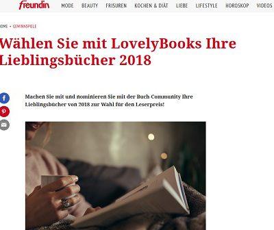 freundin Gewinnspiele 100 Buchpakete mit je 10 Büchern