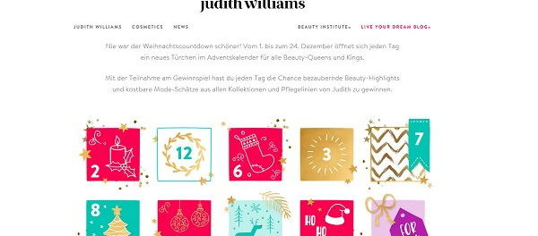 Advenstkalender Gewinnspiel 2018 Judith Williams