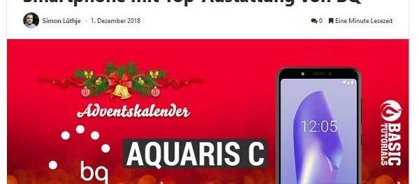 Adventskalender Gewinnspiel Basic Tutorials Smartphone