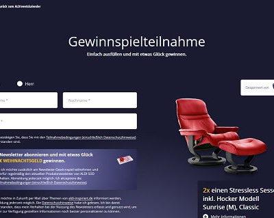 Aldi Adventskalender 8. Türchen Sessel und 5.000 Euro