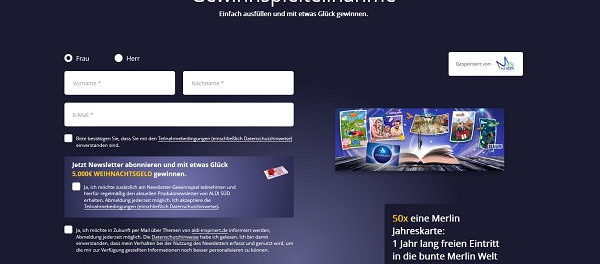 Aldi Adventskalender Gewinnspiel 50 Merlin Jahreskarten Freizeitparks