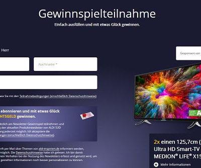 Aldi Adventskalender Gewinnspiele 50 Zoll TV Geräte