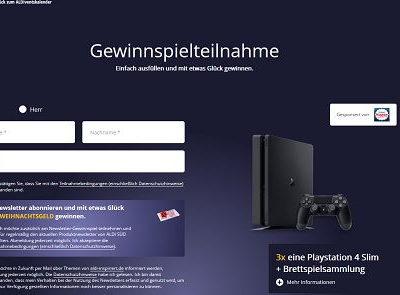 Aldiventskalender Gewinnspiel 15. Türchen Playstation 4 Spielkonsole