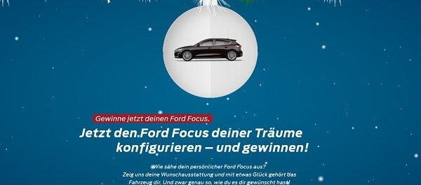 Auto Gewinnspiele Ford Focus Wunschauto gewinnen