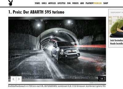 Auto-Gewinnspiele Playboy Abarth 595 turismo