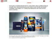 Bild.de Gewinnspiel Gillette Rasierer und Amazon Gutscheine