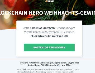 Blockchain Hero Weihnachts-Gewinnspiel