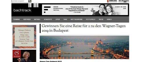 Budapest Reise Gewinnspiel Bachtrack Wagner Tage 2019