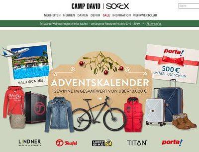 Camp David Adventskalender Gewinnspiel 2018