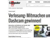 Computer Bild Gewinnspiel 10 Dashcams gewinnen