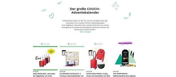 Couchstyle Adventskalender Gewinnspiel 2018