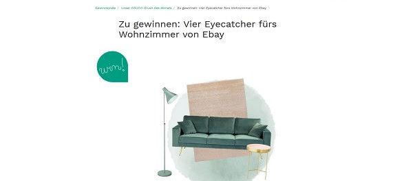 couchstyle m bel gewinnspiel ebay verlost couch. Black Bedroom Furniture Sets. Home Design Ideas