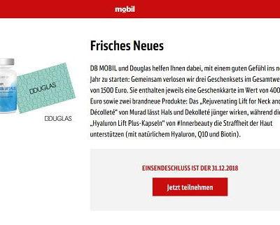 DB Mobil Gewinnspiel Douglas Gutscheine