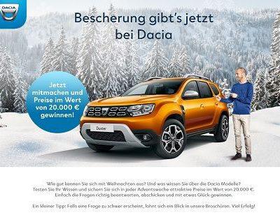 Dacia Weihnachtsgewinnspiel 2018