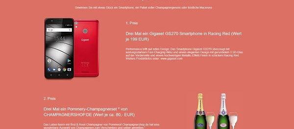 DeinKinoticket Gewinnspiel Smartphone und Champagner gewinnen