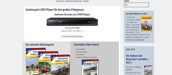 Eisenbahn Kurier Gewinnspiel 3 DVD Player