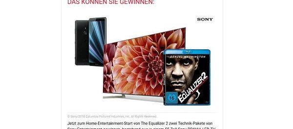 GQ Magazin Gewinnspiel Sony 55 Zoll TV und Smartphone