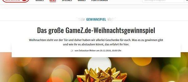 GameZ Weihnachtsgewinnspiel 2018