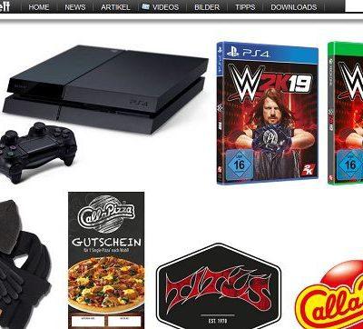 Gameswelt Gewinnspiel Sony PS4 und Winter-Sets
