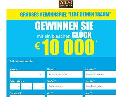 Geld Gewinnspiel Atlas for Men 10.000 Euro gewinnen