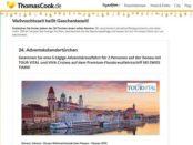 Gewinnspiel Thomas Cook Donau Adventskreuzfahrt 2 Personen Reise