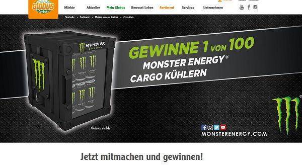 Mini Kühlschrank Von Monster : Globus und monster energy gewinnspiel mini kühlschränke