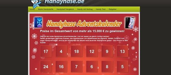 Handyhase Advenstkalender Gewinnspiel 2018