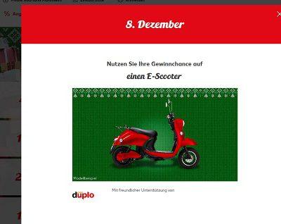 Kaufland Gewinnspiel E-Scooter gewinnen 8. Adventskalendertürchen