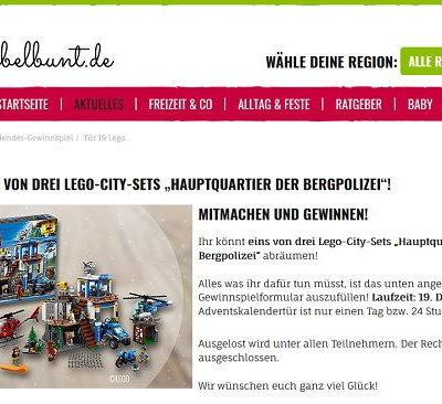 Kribbelbunt Adventskalender Gewinnspiel Lego-City-Sets