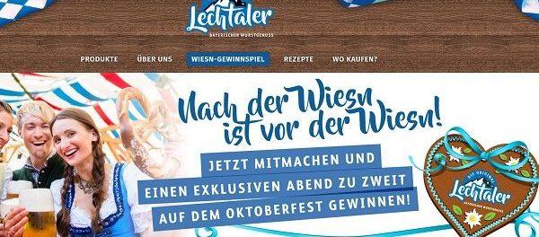 Lechtaler Wurstwaren Gewinnspiel Oktoberfest 2019 Reise
