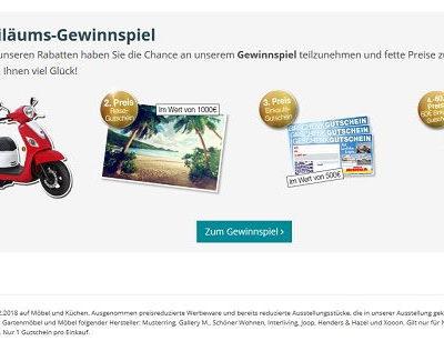 Möbel Heinrich Jubiläums Gewinnspiel Motorroller und Gutscheine